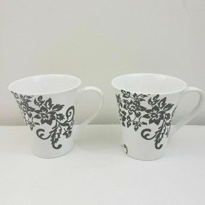 222 Fifth Toulouse Coffee Mug Floral Set of 2